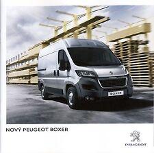Peugeot Boxer 06 / 2014 catalogue brochure tcheque Czech rare