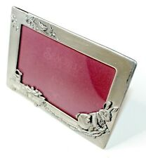 Seagull Vintage - 4x6 Pewter Picture Frame - Rabbit with Wagon Spring Easter