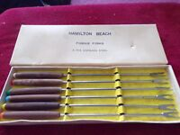 Vintage Set of Hamilton Beach Fondue Forks (6 pcs, Stainless Steel)