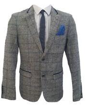 Trajes de hombre azul color principal gris