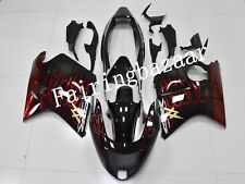 Fit for CBR1100XX BlackBird 1997-2007 Black Red Flame ABS Injection Fairing Kit
