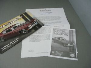 FLIER ONLY(NO CAR)-1/18-DANBURY MINT/ACME-1970 CHEVROLET CHEVELLE SS COUPE
