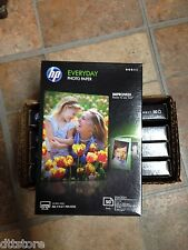 """5 Packs of 50 Sheets -  Genuine HP CR758A - 4"""" X 6"""" Glossy Everyday Photo Paper"""