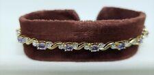 "10k Yellow Gold Tanzanite Diamond Bracelet 7"" 2.84 Carats"