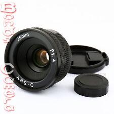 New 25mm C mount CCTV Lens for APS-C sensor camera M4/3 NEX FX N1 P/Q EOSM