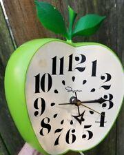 Vtg ANTIQUE classroom 60's wall Apple Clock school teacher Ingraham McGraw Hill