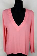 Zara Woman Pink Long Sleeve Women's Top Size:L