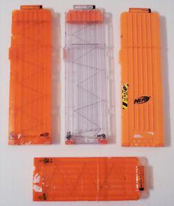 4 Nerf Magazine clip bundle lot (3 x 18 / 1 x 12 dart capacity)