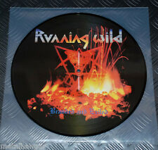 Running Wild 'Branded & Exiled' LTD Pic LP Picture Disc Metalized Blood Rare NM