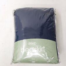 NWT Target Home Cal King Ruffle Cotton Blend Navy Blue NEW Bedskirt Bedding