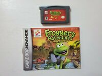 Nintendo Game Boy Advance Frogger's Adventures Temple of the Frog with manual