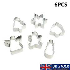 6Pcs Christmas Cookie Cutters Cake Biscuit Pastry Decor Xmas Mould UK