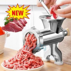 Heavy Duty Meat Grinder Mincer Stuffer Manual Sausage Filler Sauce Maker Machine