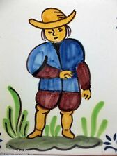 """Antique DELFT Art Tile DUTCH BOY 5.25"""""""