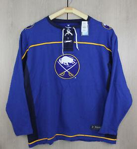 Buffalo Sabres NHL Fanatics Men's Tie Up Jersey Sweatshirt Big Tall 6XL Pullover