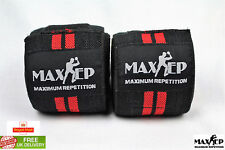 MaxRep Authentic Power Weight Lifting Strength Knee Gym Wraps Straps 78''