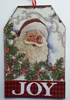 "Christmas Wall Decor 2 Options: Snowman with ""Noel & Santa with ""Joy Sayings"
