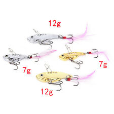 7/12g fishing lures set spoon china Metal VIB sequins Fish hard bait bass lure A