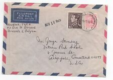 1966 BELGIUM Cover BRUSSELS To CONNECTICUT USA SG768 SG1350