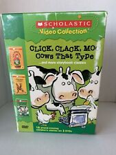 Scholastic Video Dvd Click Clack Moo Cows, Is Your Mama Llama, Red Riding Hood