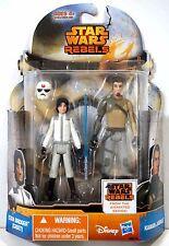 Star Wars Rebels NEW Ezra Bridger & Kanan Jarrus MS18 Disney Hasbro MOC ~ryokan