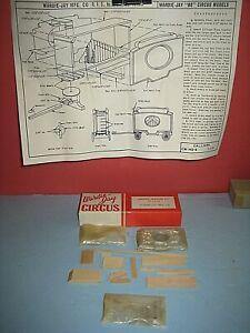 HO Wardie-Jay Circus model kits: Calliope Wagon wood & diecast parts C-8 bd