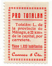 Sello Local Guerra Civil Totalan -Cat. Galvez 712.  ORD:1012