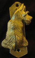 Scottie, Scottish Terrier Solo Door Knocker in Bronze