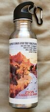 ZION NATIONAL PARK Stainless Steel Water Bottle used(?) 27oz. older version
