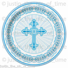 Christening Holy Communion Baptism Blue Boy Party Tableware Supplies