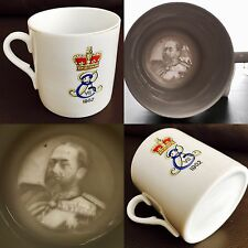 Very Rare Antique (1902) King Edward Lithophane Image Bone China Coronation Cup