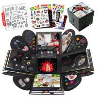 int!rend Explosionsbox Geschenk DIY Foto Box Set inkl. 5 Themen Schablonen