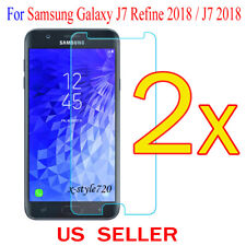 2x Clear Screen Protector Guard Film For Samsung Galaxy J7 Refine 2018 / J7 2018