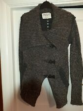 All Saints Wool Alpaca Cardigan With Metal Closures New Size 8