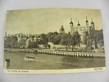 Postcard Tower of London The Times Series 1951 by Harrison and Sons w/ stamps