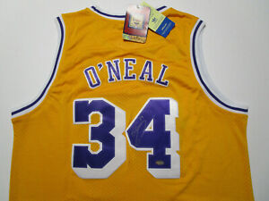 SHAQUILLE O'NEAL / AUTOGRAPHED LOS ANGELES LAKERS THROWBACK JERSEY / M.M. COA