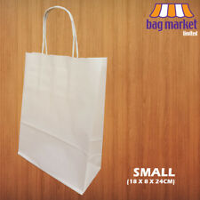 More details for strong white twisted handle paper bags   kraft/twist/gift/party/fashion/carrier