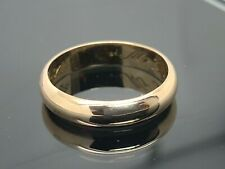 Wedding Band 18k Rose Gold Solid Plain Ring Unisex 4.5mm Wide Estate Jewelry 8