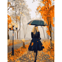 """Autumn Figure 16X20"""" Paint By Number Kit DIY Acrylic Painting on Canvas Unframed"""