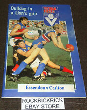 VFL FOOTBALL RECORD JUNE 14 1982 VOL. 71 NO. 26 (ESSENDON VS CARLTON)