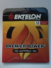 NEW Ektelon Premier Power Softflex 17 gauge 1.25mm Racquetball String 42ft Black
