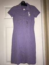 NWT Ralph Lauren Women Lavender Big Pony Polo Dress Slim Fit  Sz. XS