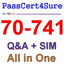 MS Best Practice Material For 70-741 Exam Q&A+SIM