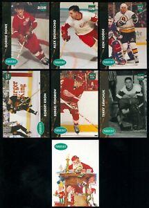 1991-92 PARKHURST RECRUE NHL HOCKEY FRENCH CARD SEE LIST
