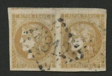 MAGNIFIQUE PAIRE 10c BORDEAUX N°43 OBL. GC 1312