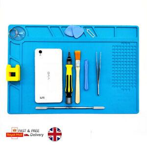 Heat Insulation Silicone Pad Soldering Mobile iPhone Repair Maintenance Desk Mat