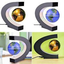 C Shape Globe LED World Map Floating Magnetic Levitation Light Anti Gravity Lamp