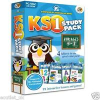 Computer Classroom at Home Key Stage 1 Study Pack For Ages 5-7 KS1 Maths English