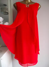 MONSOON RED BEADED RAFAELA WEDDING CRUISE PROM COCKTAIL PARTY RACES DRESS 18