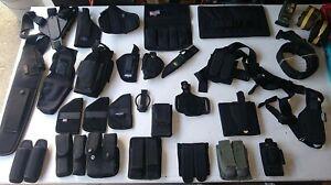 Lot  GUN & Ammo Clip  HOLSTERS & BELTs cases